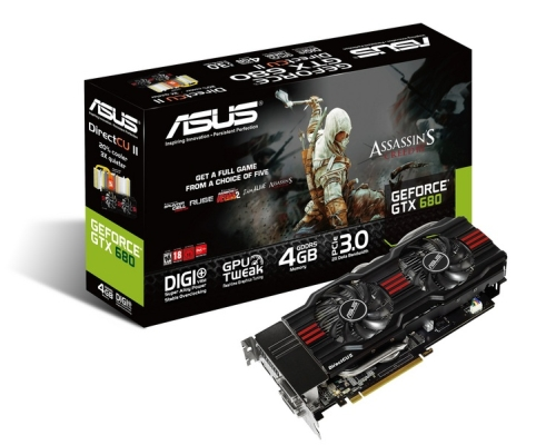 ASUS GeForce GTX DirectCU II kártyák, Assassin's Creed III-mal