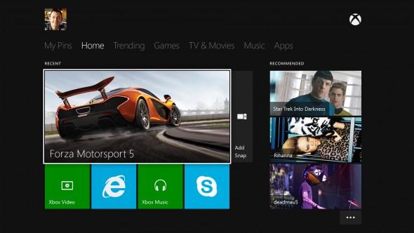 Xbox One Live menü 2120a7fed4